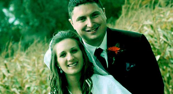 Image of Dr. Sandra Wisnewski with husband Chris Shindorf on the day of their marriage