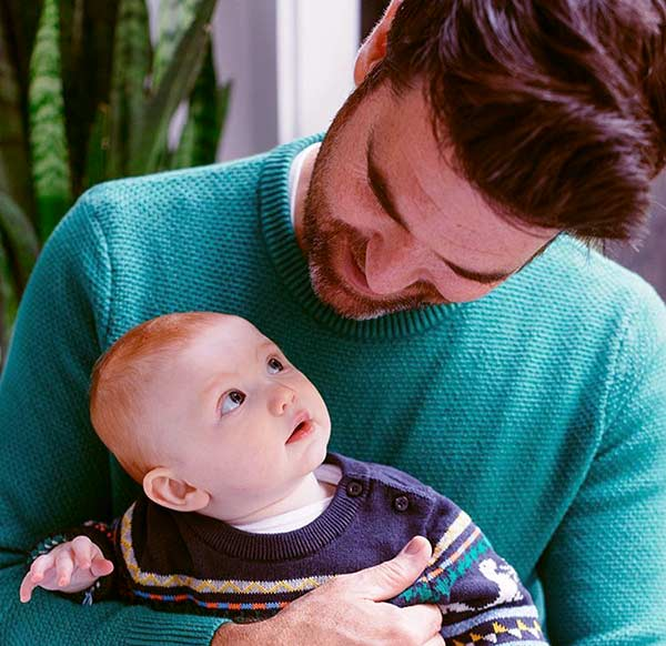 Image of The interior designer's playing with his nephew