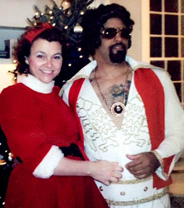 Image of Old picture of Lou Santiago with his wife