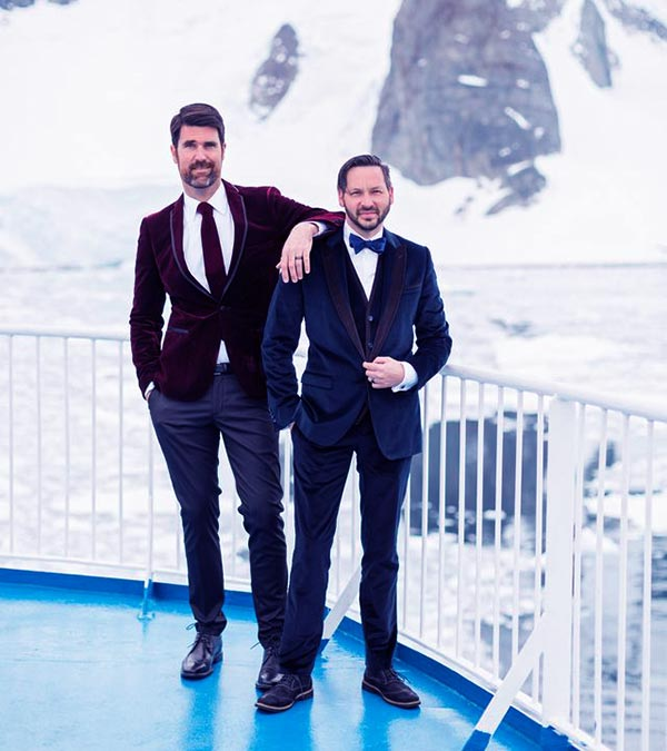 Image of Brian Patrick Flynn and Hollis Smith got married in ice floe Antarctica after being in a relationship for more than ten years