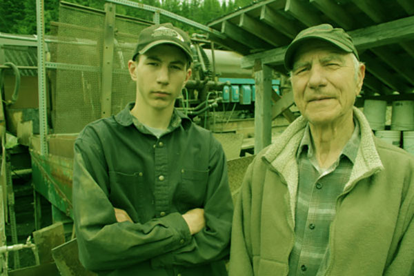 Image of Parker Schnabel with Grandfather John Schnabel.