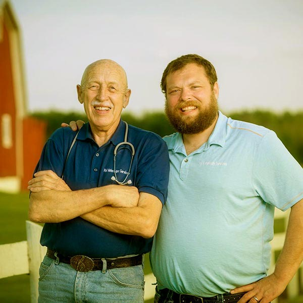 Image of Charles Pol with father Dr. Jan Pol