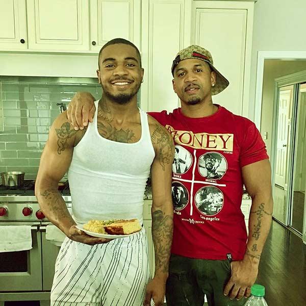 Image of Dorian Jordan with father Stevie J