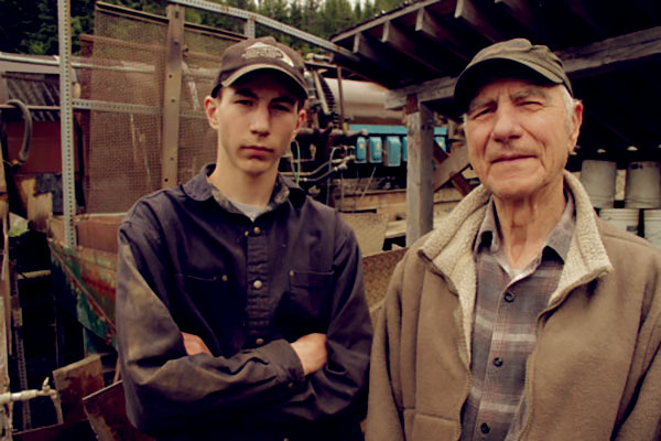 Image of Parker Schnabel with grandfather, John Schnabel
