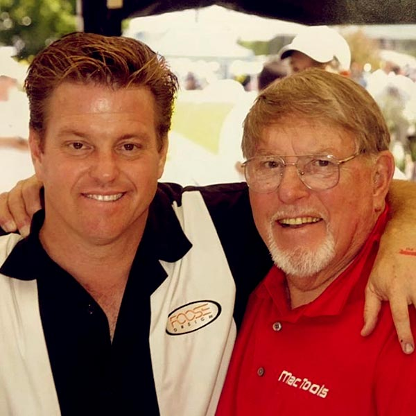 Image of Bryan Fuller with his mentor, Chip Foose