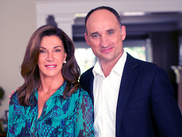 Image of David Visentin with his co-host, Hillary Farr