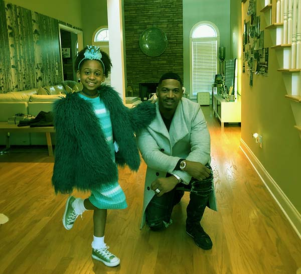 Image of Eva Giselle Jordan with father Stevie J