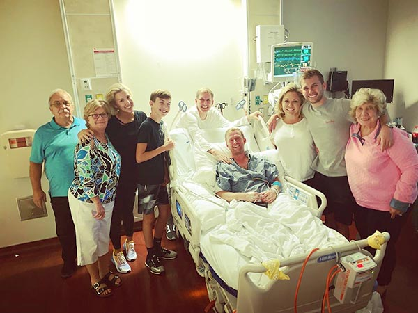Image of Todd Kyle and family supporting son Kyle