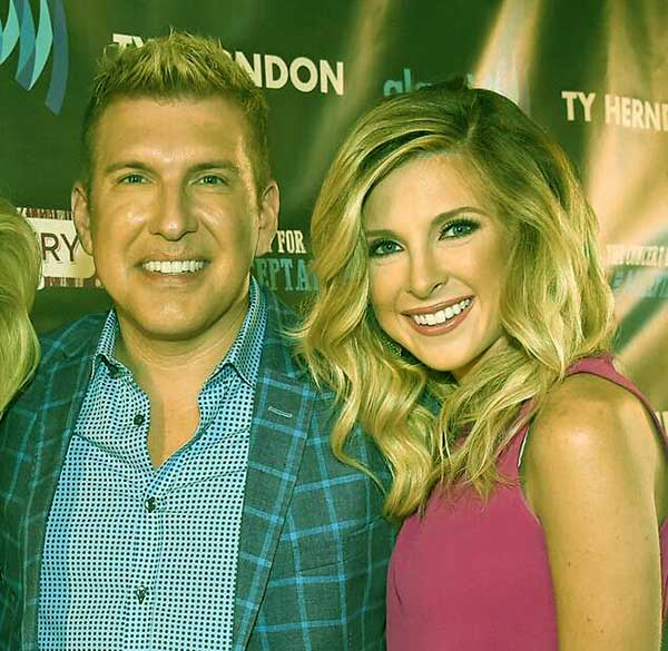 Image of Todd Chrisley with daughter Lindsie