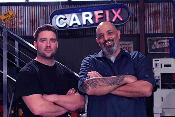 Image of Jared Zimmerman with Lou Santiago on Car Fix