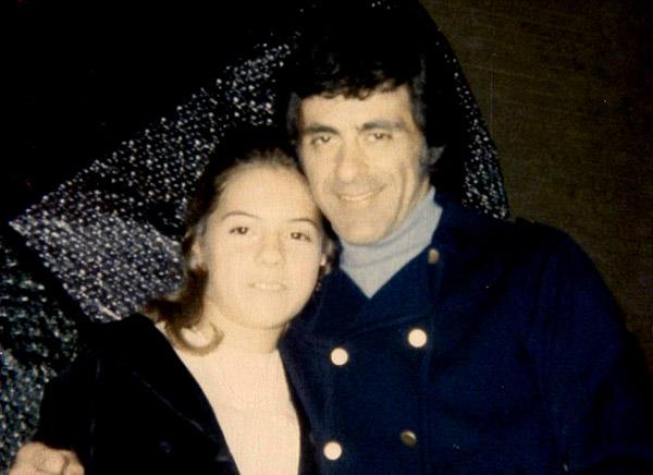 Image of Frankie Valli with his daughter Celia Valli