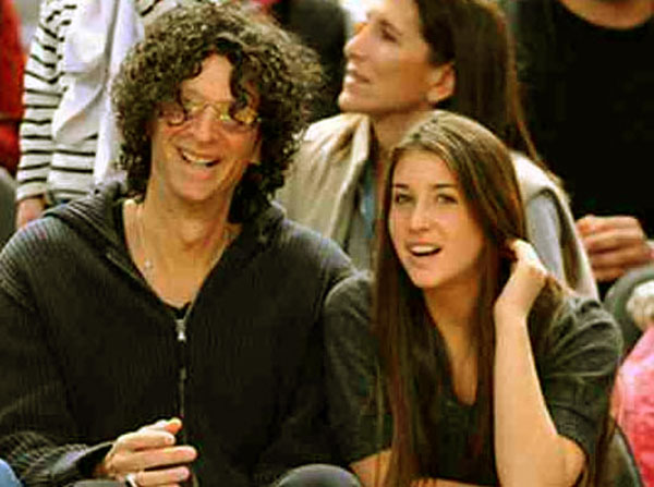 Image of Ashley Jade Stern with her celebrity father, Howard Stern