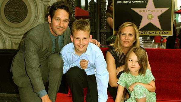 Image of Beautiful family of Paul Rudd and Julie Yaegar